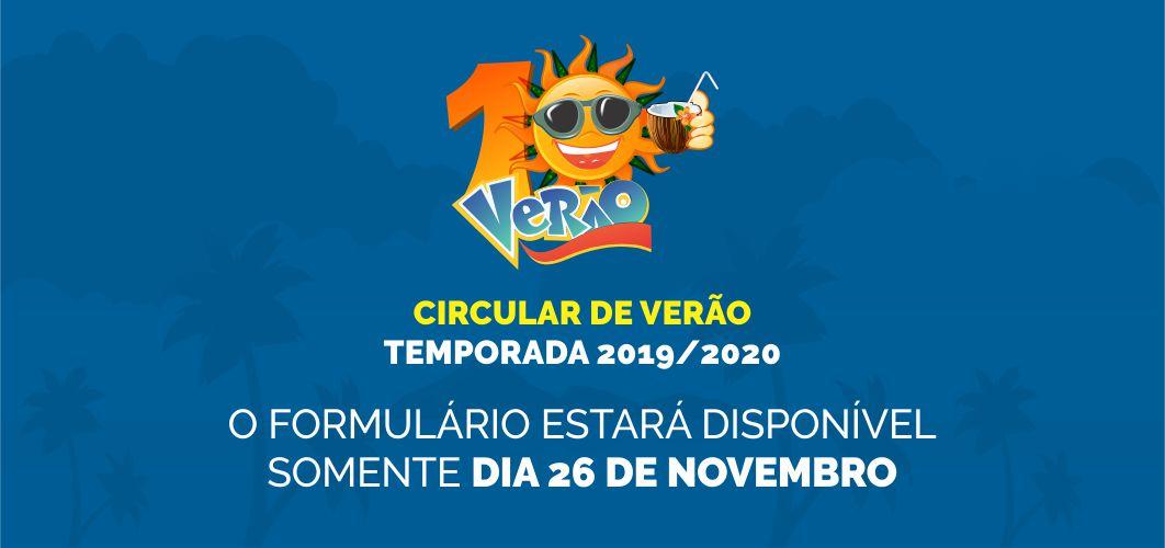 Circular de Verão Temporada 2019/2020